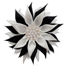 گل سر یا کلیپس مو سیاه سفید مرواریدی