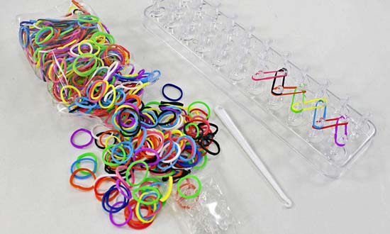بافتنی ساز فانی بافت diy rainbow bands