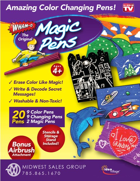 خرید ماژیک جادویی 20 عددی با رنگ های متغیر